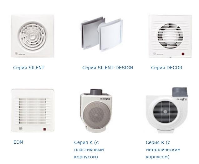 бытовые вентиляторы Soler&Palau для ванных комнат, туалетов, кухонь