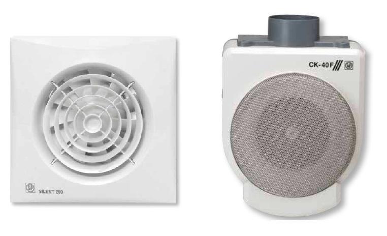 Вентиляторы бытовые Soler&Palau для ванных комнат, туалетов, кухонь